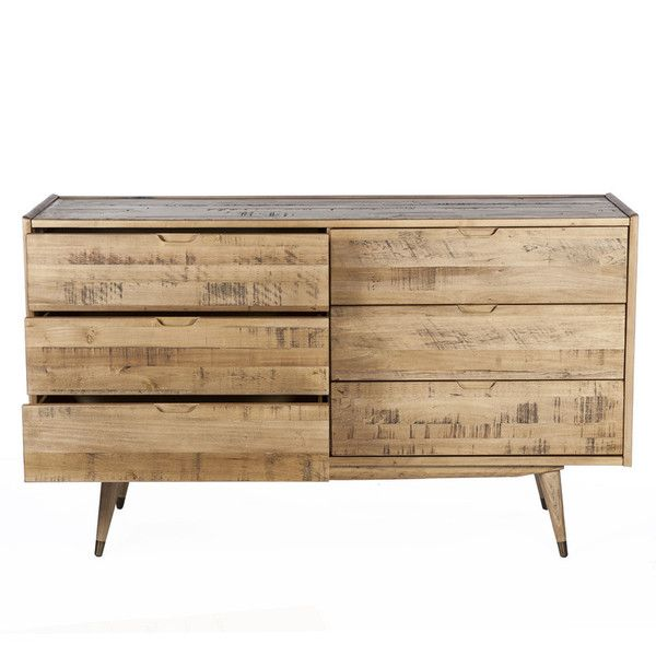 The Amelrooy 6 Drawers Dressing Table Design By BD MOD ($1,883) ❤ Liked On