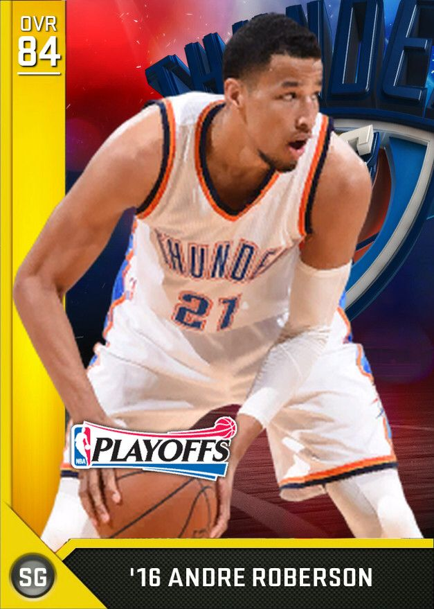 '16 Andre Roberson (84) MyTEAM Gold Card