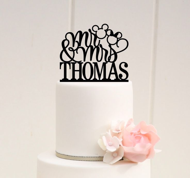 Mickey Head Mr and Mrs Wedding Cake Topper - Disney Wedding Cake Topper by ThePinkOwlDesigns on Etsy https://www.etsy.com/listing/222347189/mickey-head-mr-and-mrs-wedding-cake