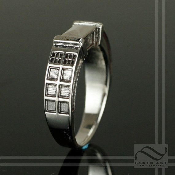 TARDIS Ring Solid Sterling Silver by mooredesign13 on Etsy, $180.00