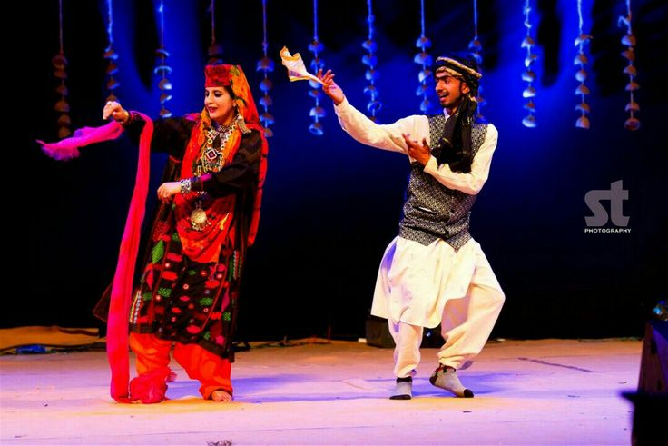 Indian folk dancers from Jammu & Kashmir