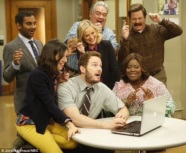 Ready to go: The Parks and Recreation actor, at center, said he's eager to wrap the show's...