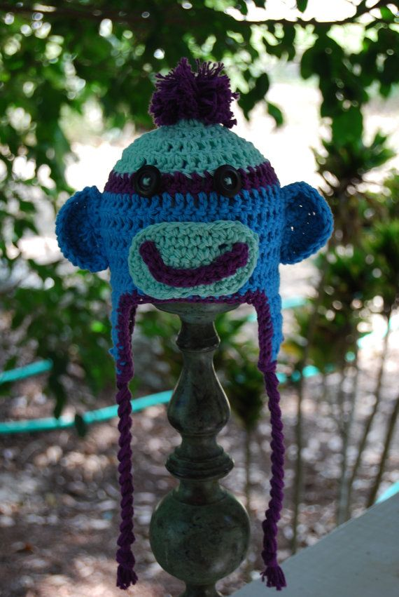 Hey, I found this really awesome Etsy listing at https://www.etsy.com/listing/243133755/crochet-sock-monkey-hat-crochet-baby