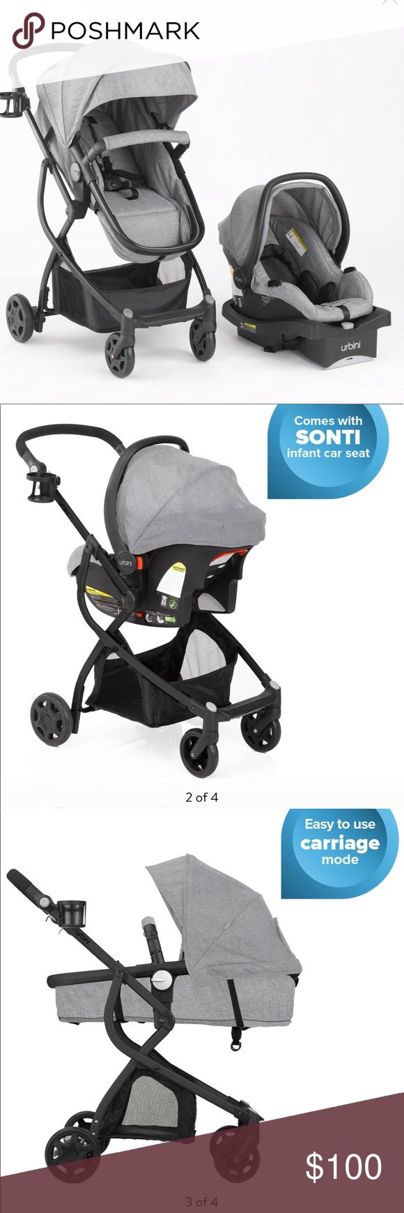 Urbini gray stroller and carseat combo (With