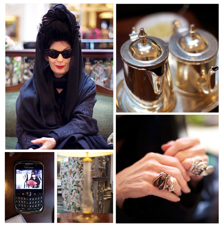 Diane wearing firefly ring