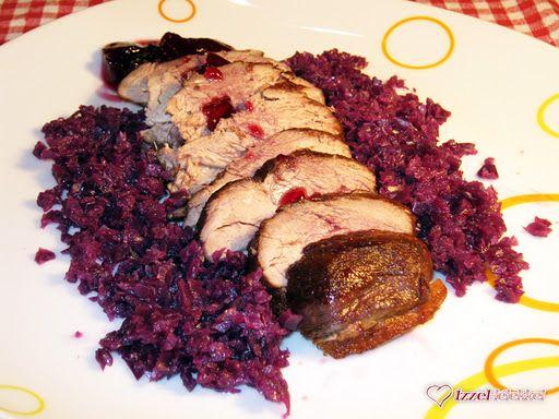 Ízzel-lélekkel készült receptek: Karácsonyi recept ötlet: Bikavérben sült kacsamell párolt lilakáposztával és dzsemborral