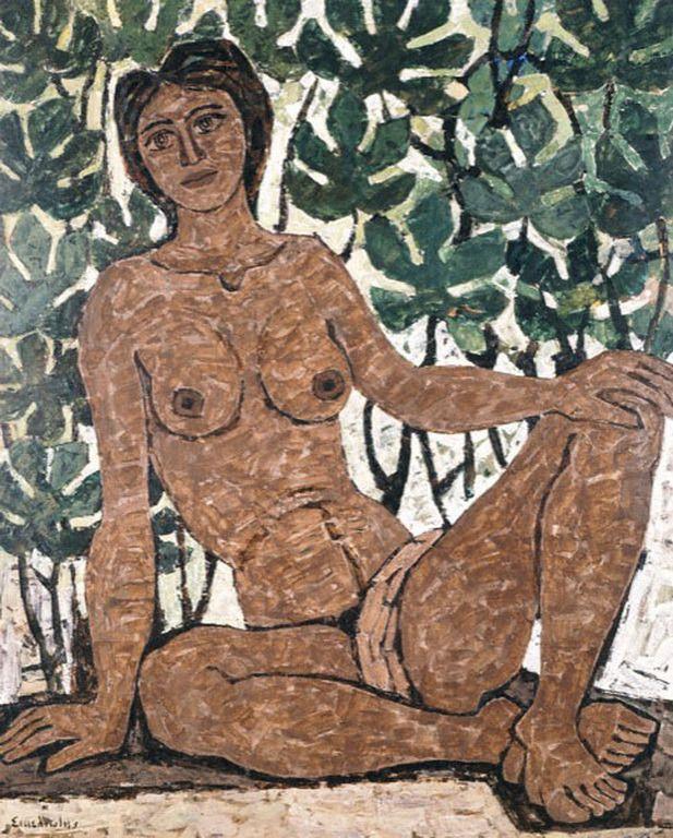 Greek painter Giorgos Sikeliotis [1917-1984] George Sikeliotis.2