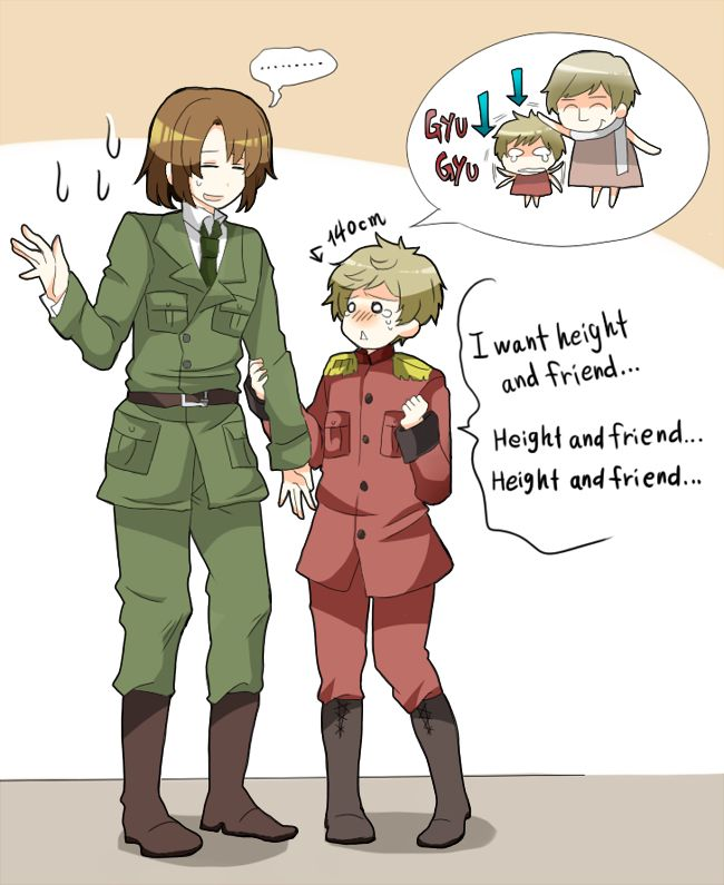 The Baltics<<<<140cm= 4 feet, 5 inches. Latvias small. Awwwww he's so tiny!!! ^.^