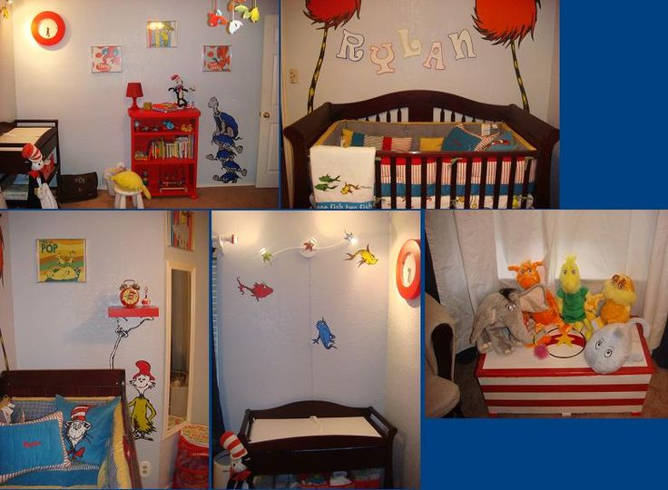 Seussland Nursery: My Wife And I Both Love All The Quirky Characters In The  Dr. Seuss World. We Used An Overhead Projector, Basic Acrylic Paints For  Filling ...