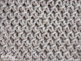The Purl-Twist Fabric stitch | knittingstitchpatterns.co