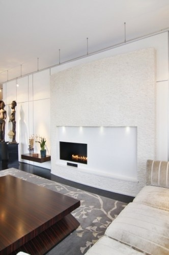 Superb Great Asymmetrical White Modern #contemporary #fireplace By Berardi Partners