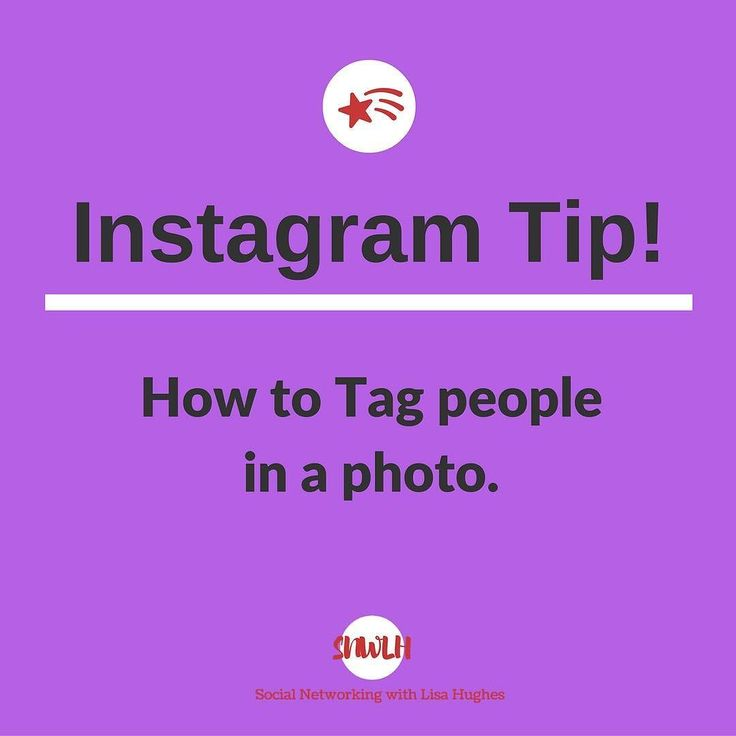 Instagram Tip: How to tag People If youre uploading a new photo and want to tag someone tap on the person or object in the image that you want to tag and enter their name or Instagram username. If for some reason you dont see the person youre looking for Instagram makes it easy to search for people you know. If you want to tag people in a photo that youve already uploaded go to the photo tap menu on iOS or Android and tap Tag People.  Want to learn more about building your business using…
