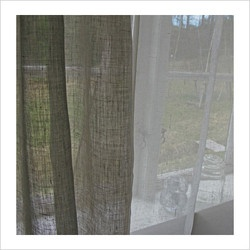 Lovely linen curtains.