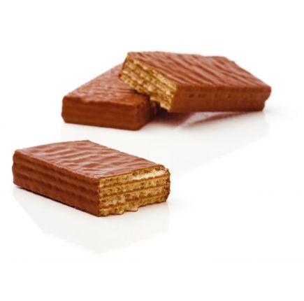 GAUFRETTE CHOCOLAT-ORANGE LINÉADIET X 5 Gaufrette riche en protéines saveur chocolat-orange prête à l'emploi.  La gaufrette saveur chocolat-orange constitue une solution diététique pratique : vous pouvez l'emporter partout ! Faible en calories et riche en protéines, elle est votre gourmandise autorisée.