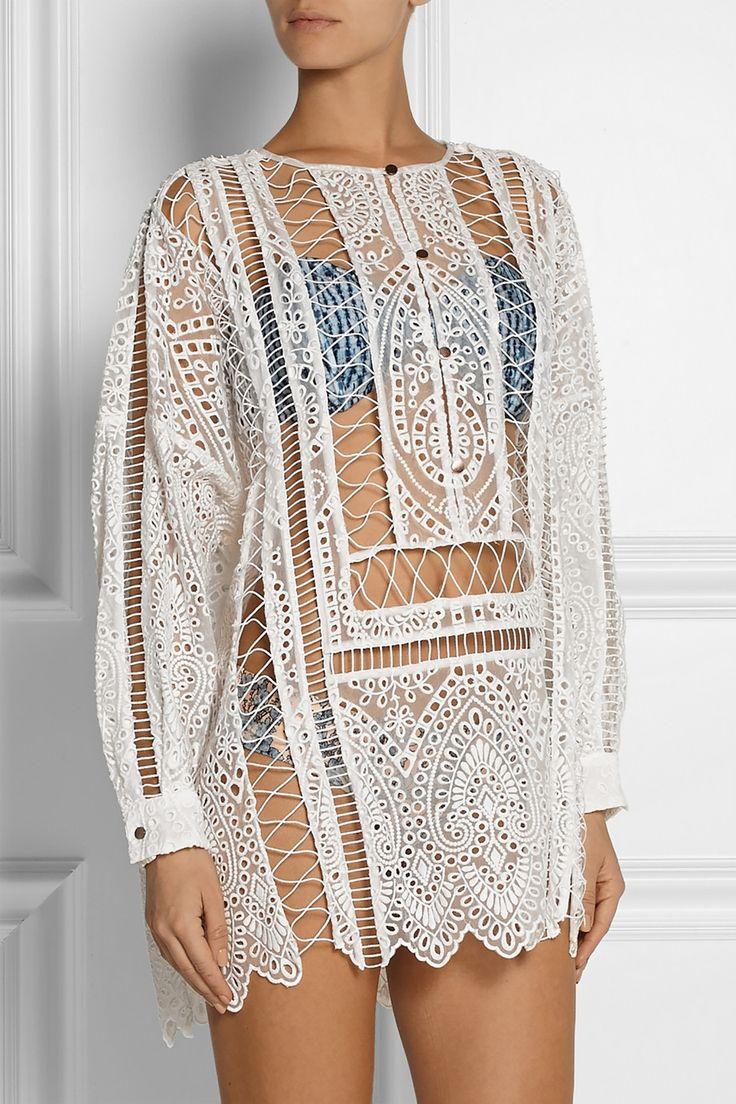 Zimmermann Feminine Dresses New York Fashion Week: Riot Broderie Anglaise Tunic