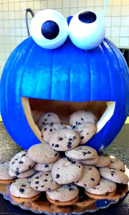 C is for Cookie! Create a fun, pumpkin display for your next get together!