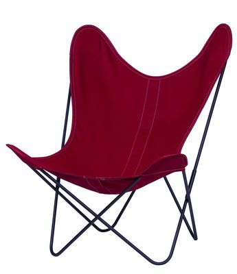 AA Butterfly Armchair - Cloth / Black structure Black frame / Raspberry cover by AA-New Design - Design furniture and decoration with Made in Design