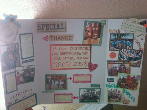 girl scouts poster board my crafty creations