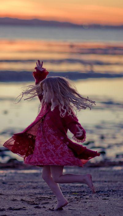 #beach #girl #child #Twirling
