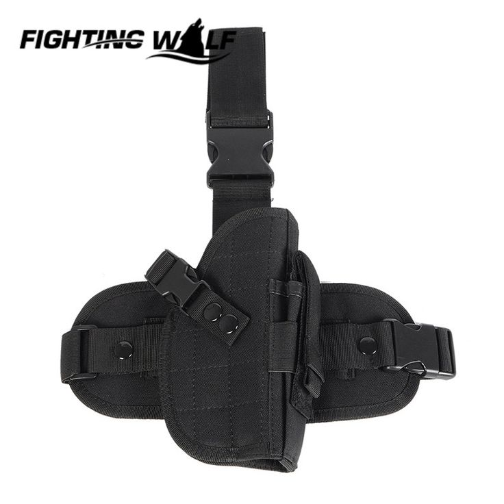 600D Molle Nylon Waterproof Legging Bag Tactical Military Airsoft Pistol Holster Hunting Wargame CS Field Equipment Accessory