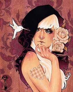 """Glenn Arthur, shades of art nouveau with """"Patched Hearts Never Heal"""". Stunning"""