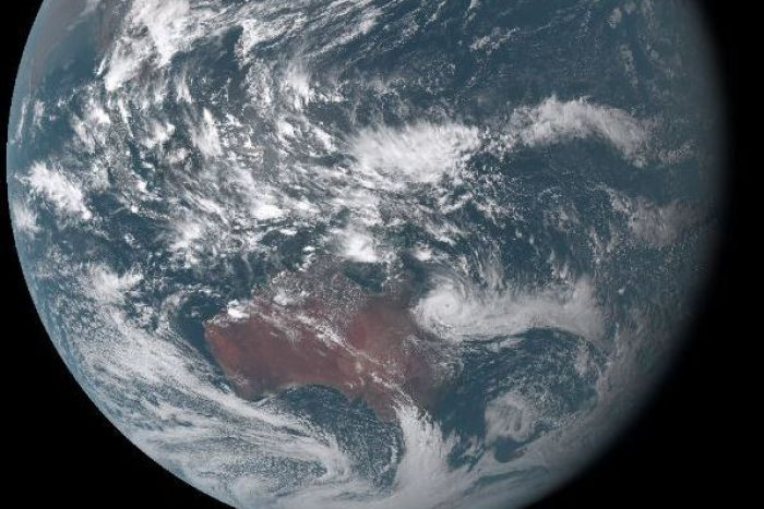 Cyclone Debbie from space, captured by the Japan Metrological Agency