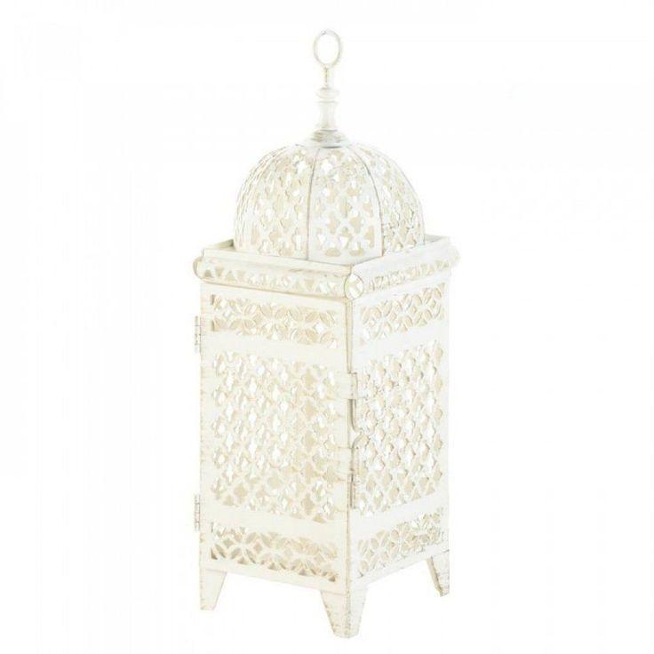 Quatrefoil Design Cutout Lantern Table Candle Holder Garden Yard Porch Patio #GalleryofLight