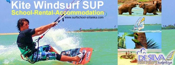 DE SILVA´s KiteResortKalpitiya-Srilanka  http://www.surfschool-srilanka.com  Wir bieten Kitekurse / Windsurfkurse / SUP - Stand Up Paddling / Verleih / Unterkunft in Cabana-Houses /   Organisation von Ausflügen / Flughafen-Transport / KiteTrips / WindsurfTrips / SUP-Trips