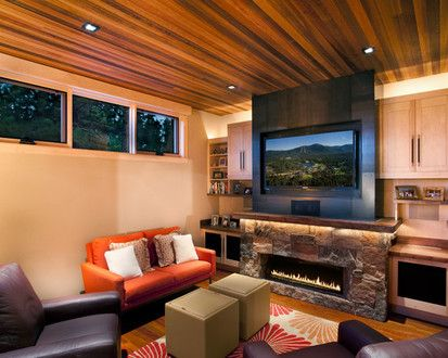 Family Room, Contemporary Family Room, Sacramento