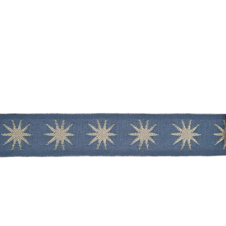"""Vern Yip 2"""" 03321 Trim Blue from @fabricdotcom  Use this versatile trim tape for accents on draperies, valences, duvet covers, and toss pillows."""