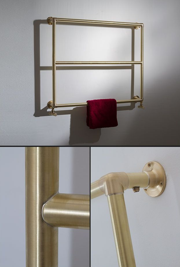 Natural Brass Bathroom Towel Rail