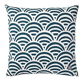Navy Soleil Print Outdoor Pillow | Serena & Lily