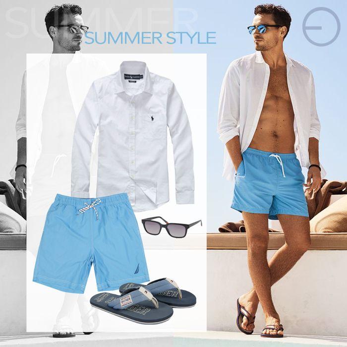 #FashionBySIMAN & Carlos Eduardo Paredes: Disfruta de tus días de playa con prendas en tonos claros. Encuentra una variedad de shorts en el color que prefieras y combínalos con tu camisa favorita.