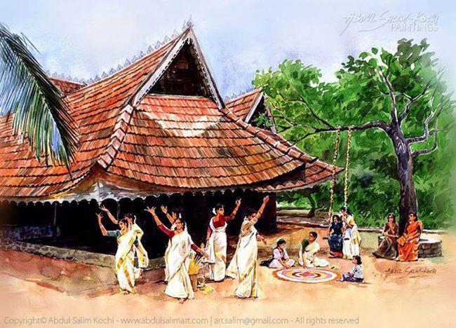 Beautiful Watercolor Paintings Of Kerala By Abdul Salim