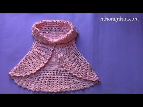 How to crochet a bolero jacket - YouTube