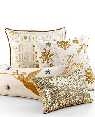 Martha Stewart Collection Bedding, Holiday Decorative Pillows - Decorative Pillows - Bed & Bath - Macy's