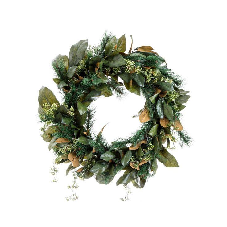 Pine Magnolia 25 Inch; Wreath Giant Green - Dare Gallery