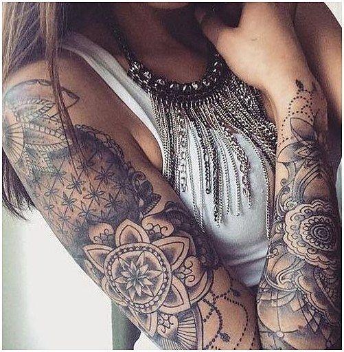#TattooSleeve #ArmSleeveTattoo Wonderful Mandala Arm Tattoo Design , click for i…