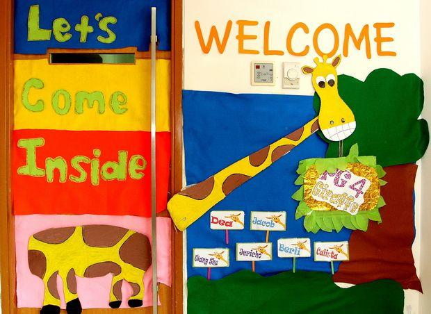 PG Giraffe Class front door art work