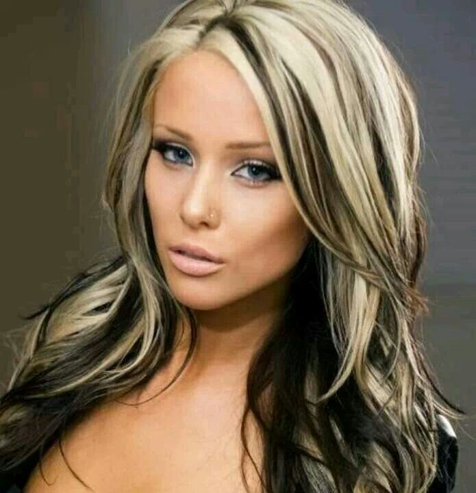 Black and Brown Hair with Blonde Highlights