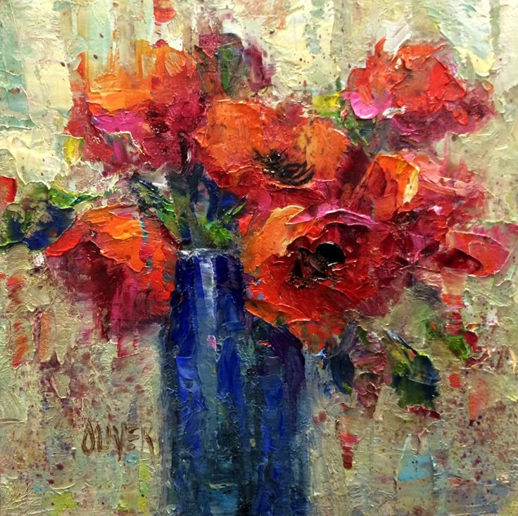 Poppies   6x6in oil on canvas panel $110. SOLD       Artist Note.   Classes have started and   it feels good to be back into...