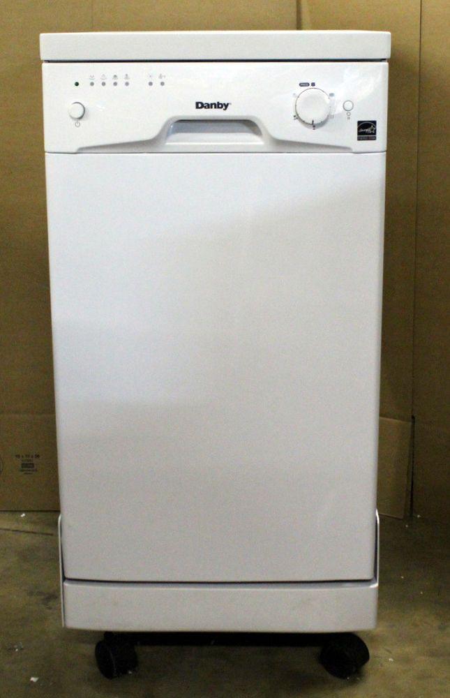 Danby 18 8 Place Setting Portable Dishwasher White Ddw1801mwp Dishwasher White Portable Dishwasher Danby