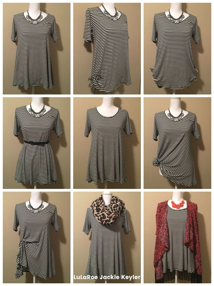 9 ways to wear your LuLaRoe Perfect Tee! Like the look? Come shop with us: www.facebook.com/lularoekatelea