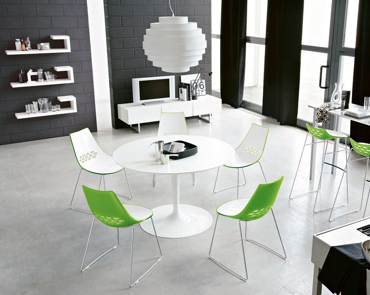 Calligaris Dining Room Two Tone Chair