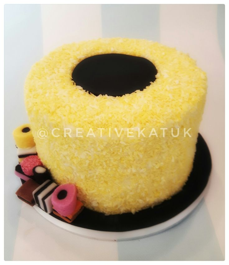 Cake Decorating Trafford Centre : Liquorice Allsort Cake. Aniseed centre with surrounding ...