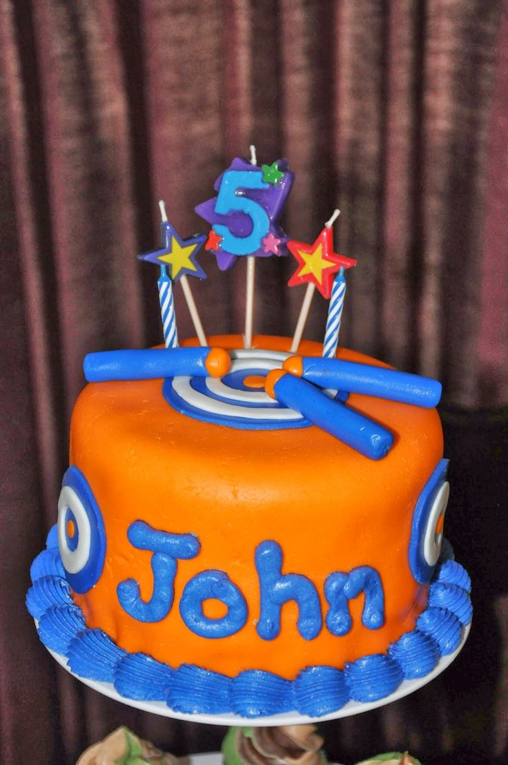Gun Cake Decorating Ideas : Nerf cake party ideas for the boys Pinterest ...