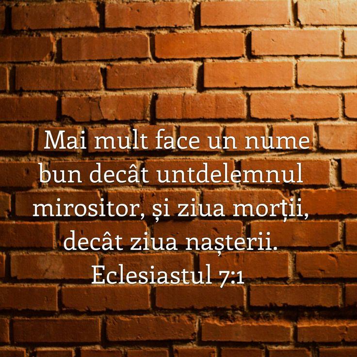 Eclesiastul 7:1