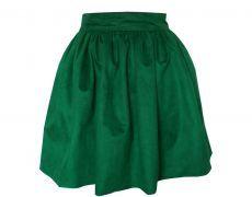 Spring leather skirt