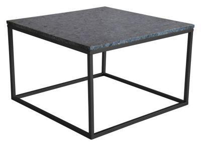 """Ett fyrkantigt<b>soffbord</b>""""Accent"""" med marmorskiva - en robust dock stilig möbel som du kommer att ha glädje av lång tid framöver. Den gråfärgade<b>marmorskivan</b>ligger på ett svart underrede i metall. Bordet mäter B/H/D ca. 75 x 48 x 75 cm. Ett stiligt och stabilt soffbord!"""
