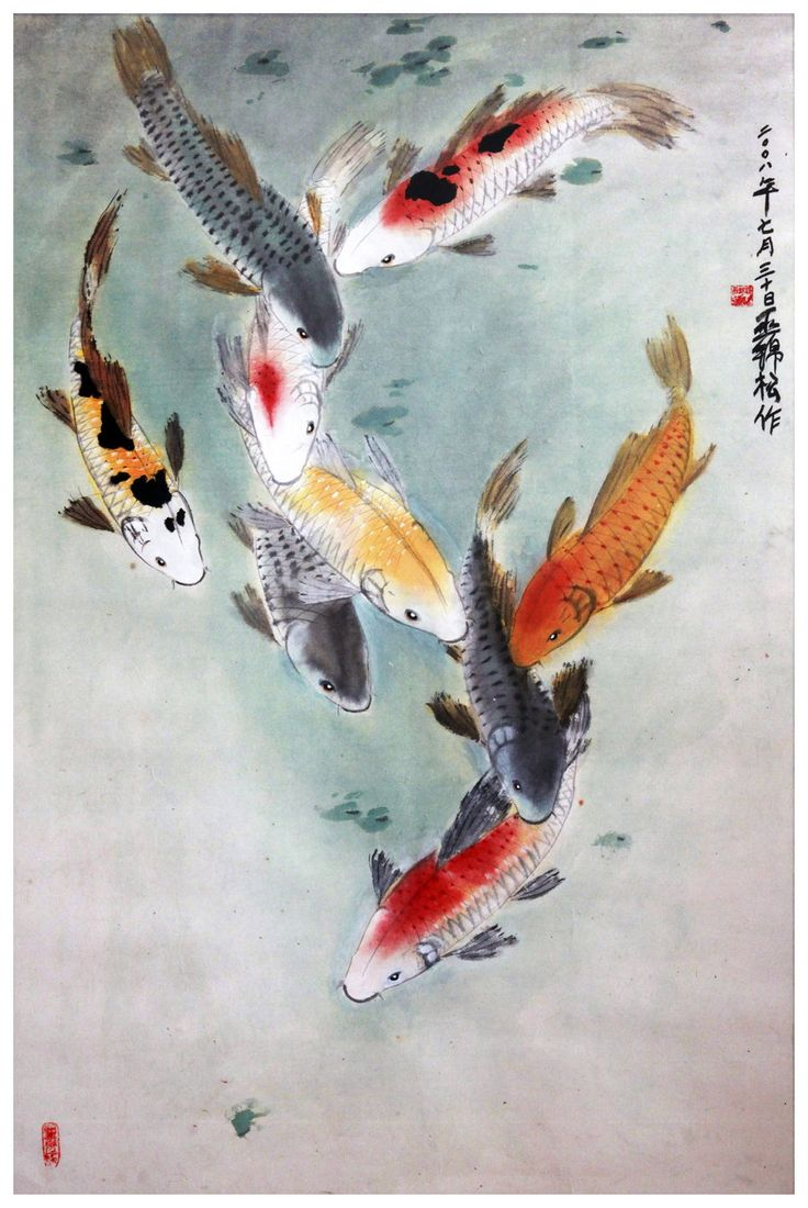 569 best design fish sea animals images on pinterest for Japanese fish painting